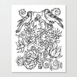 Runes & Ravens Canvas Print