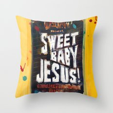 Sweet Baby Jesus by DuClaw Brewing Beer Throw Pillow