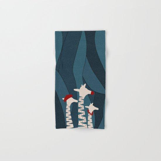 Giraffes Holiday Season Design Hand & Bath Towel