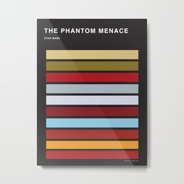 The colors of StarWars - The Phanton Menace Episode 1 Metal Print