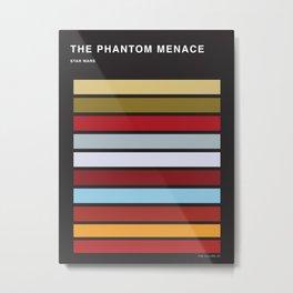 The colors of StarWars - The Phanton Menace Episode 1 Metal Print