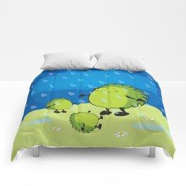 happy when it rains Comforters