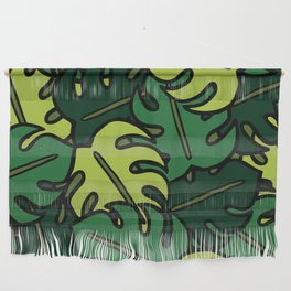 Monstera Leaf Pattern Wall Hanging
