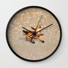 It's Snowing, my Deer Wall Clock