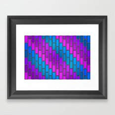 BRICK WALL #2 (Purples, Violets & Turquoises) Framed Art Print