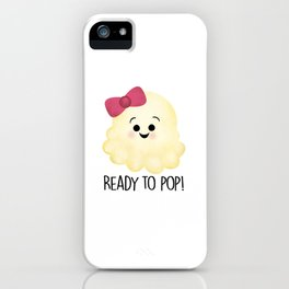 Ready To Pop - Popcorn Pink Bow iPhone Case