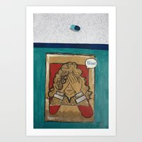 pain Art Prints featuring Pain by Thiffany