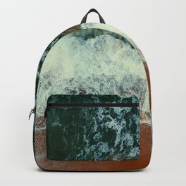 aerial view of seashore at daytime Backpack