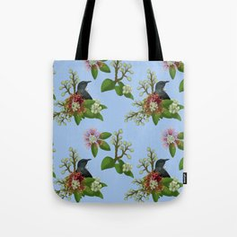 Tui in Pohutukawa Flowers Tote Bag