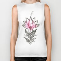 lotus flower Biker Tanks featuring Lotus by Himadri Pachori