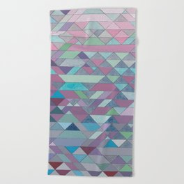 Triangle Pattern no.3 Violet Beach Towel
