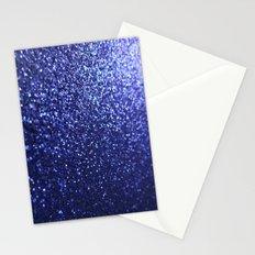 Royal Blue Glitter Sparkles Stationery Cards