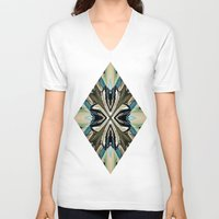 power V-neck T-shirts featuring Power by David Lee