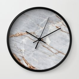 Light Gray Marble With Gold Wall Clock