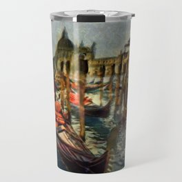 Waterway At Dusk Travel Mug