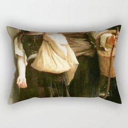 William-Adolphe Bouguereau - Little Beggars Rectangular Pillow