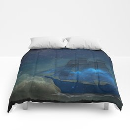 Ships and Stars Comforters