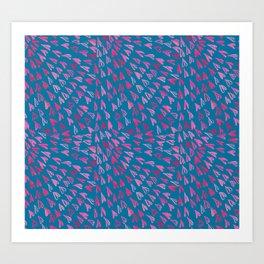 Mosaic Hearts Art Print