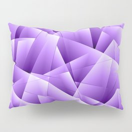 Light overlapping sheets of violet paper triangles. Pillow Sham
