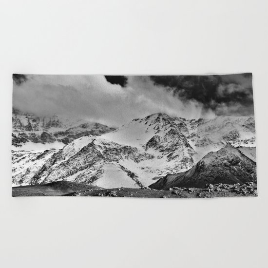 """Wild mountains"". Wilderness. Into the storm Beach Towel"