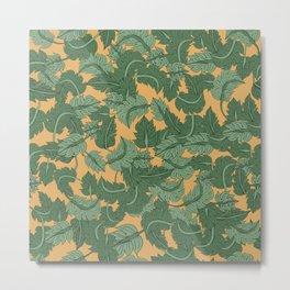 Foliage Yellow Metal Print