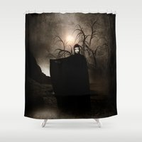 seal Shower Curtains featuring The Seventh Seal by Viviana Gonzalez