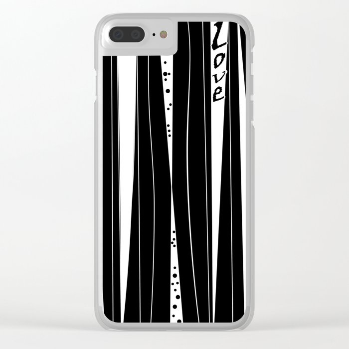 With love . Clear iPhone Case