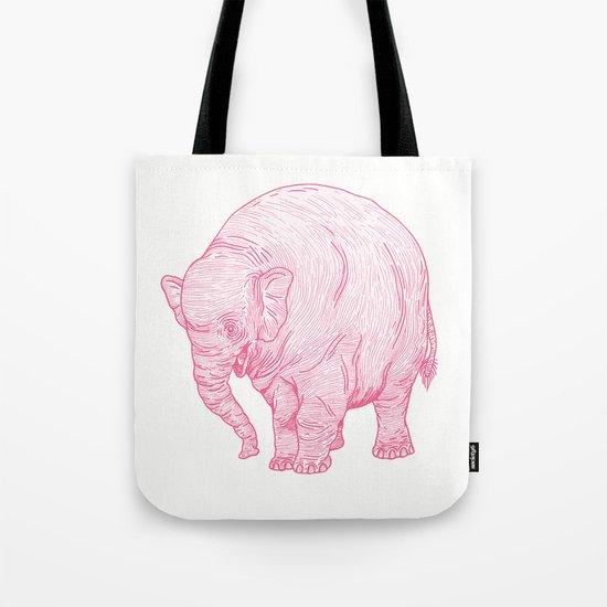 Pink Elephant Tote Bag