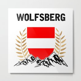 Wolfsberg Austria Alps TShirt Austria Flag Shirt Austrian Alps Gift Idea  Metal Print