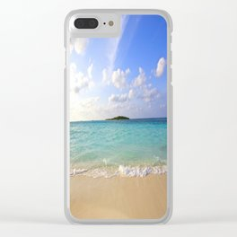 Maldives Beach Clear iPhone Case
