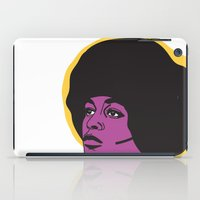 miles davis iPad Cases featuring Ms. Davis by Grace Teaney Art