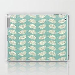 Beige leaves on Turquoise Laptop & iPad Skin