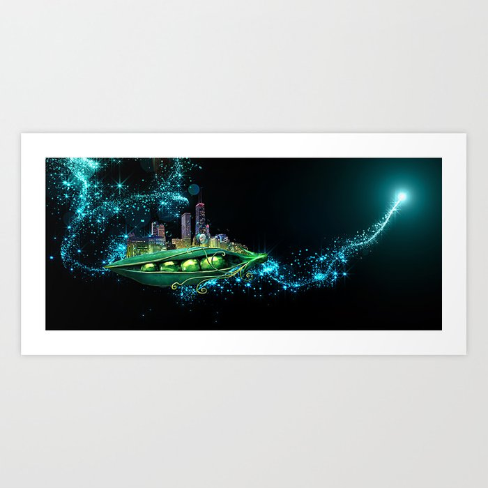 The Peabrain Society Peapod Art Print
