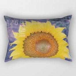 Tournesol Carte Postale - Sunflower Postcard Rectangular Pillow