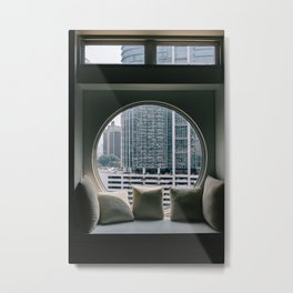 Circular Window Metal Print