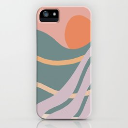 Desert Hilltop Sun iPhone Case