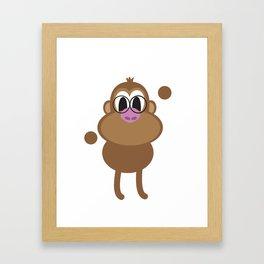 Hi, the monkey said. Framed Art Print