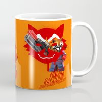 rocket raccoon Mugs featuring Rocket Raccoon by Markusian