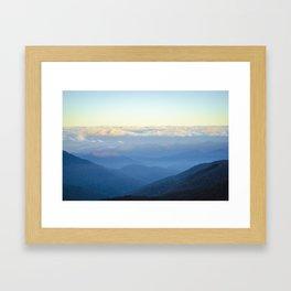 Clouds at eye level  Framed Art Print