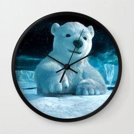 Small Bear Wall Clock