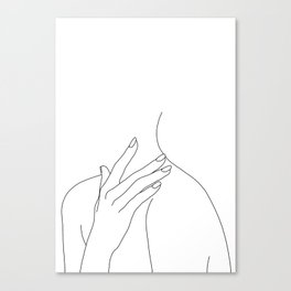 Female body line drawing - Danna Canvas Print
