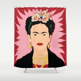 Frida Khalo (Red) | Bad Ass Women Series Shower Curtain