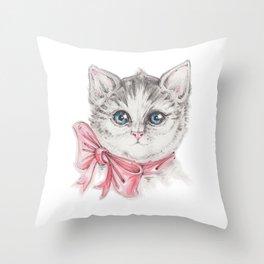 Kitty's portrait Throw Pillow