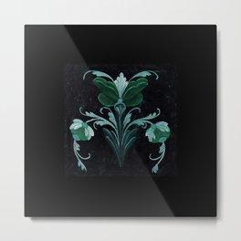 Antique Flowers No.1c by Kathy Morton Stanion Metal Print