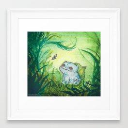 Bulbasaur's Sunny Afternoon Framed Art Print