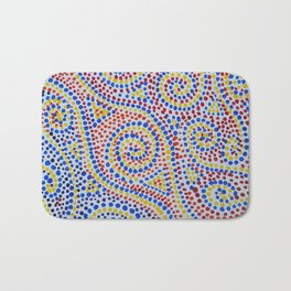 Swirling Dots 2 Bath Mat