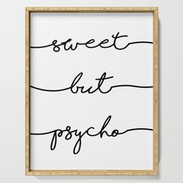 Sweet But Psycho, Digital Download, fun, home decor, wall art, bedroom, pop, instant printable, Insp Serving Tray