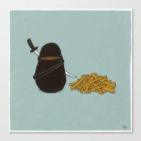 potato Canvas Prints featuring Potato Ninja by Phil Jones