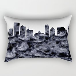 Atlantic City Skyline Rectangular Pillow