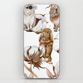 Cotton Flower & Rabbit Pattern 01 iPhone Skin